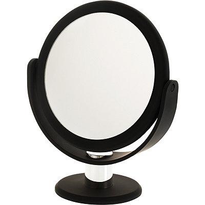 Soft Touch Round Black Vanity Mirror