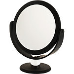 Soft Touch Round Black Vanity Mirror