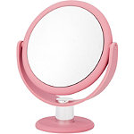 Soft Touch Round Blush Pink Vanity Mirror