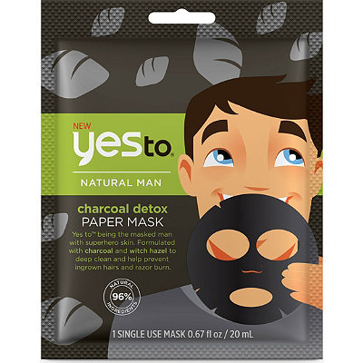 Online Only Natural Men Charcoal Detox Paper Mask