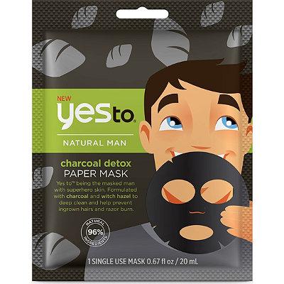 Yes toOnline Only Natural Men Charcoal Detox Paper Mask