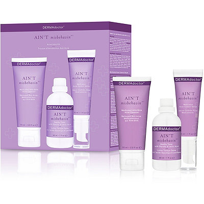 Dermadoctor Online Only Ain%27t Misbehavin%27 Acne Intro Kit