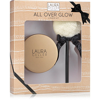 Laura Geller All Over Glow 2 Pc Kit - Gilded Honey Baked Body Frosting