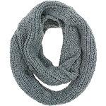Grey Yarn Loop Scarf