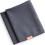 Aquis Online Only Waffle Luxe Hair Towel Moody Grey