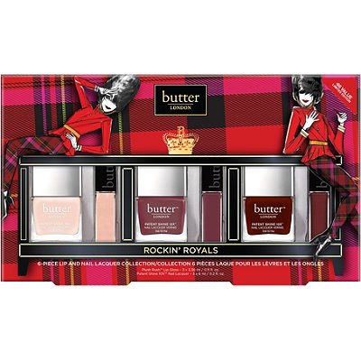 Butter London Online Only Rockin Royals 6 Pc Lips %26 Tips Collection