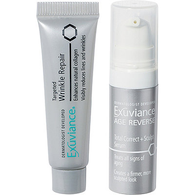FREE Deluxe Age Reverse Total Correct +Sculpt Serum & Wrinkle Repair w/any Exuviance purchase