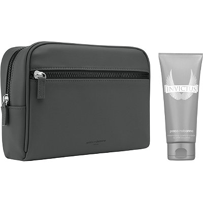 Paco Rabanne Online Only FREE Invictus Toiletry Bag and Shower Gel w%2Fany large spray Paco Rabanne Invictus or Invictus Intense fragrance collection purchase