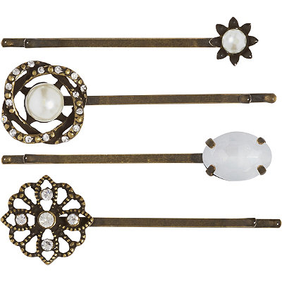 Capelli New YorkFloral Mixed Bobby 4 Piece Pin Set