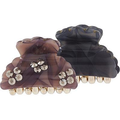 Capelli New YorkBlack %26 Brown Claw Clip Set