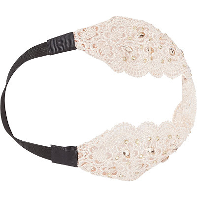 Capelli New YorkCrochet and Gem Embellished Head Wrap