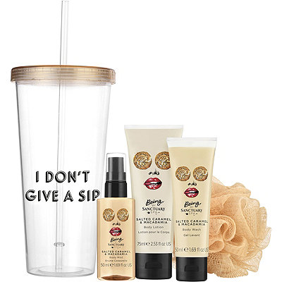 Being I Don%27t Give a Sip Tumbler %26 Bath Gift Set