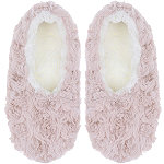 Pink Faux Fur Slipper Socks with Grippers