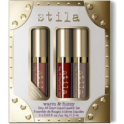 StilaWarm %26 Fuzzy Stay All Day Liquid Lipstick Set