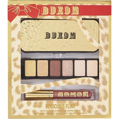 BuxomFerocious Flirt Limited Edition Eyeshadow Palette %26 Plumping Lip Polish