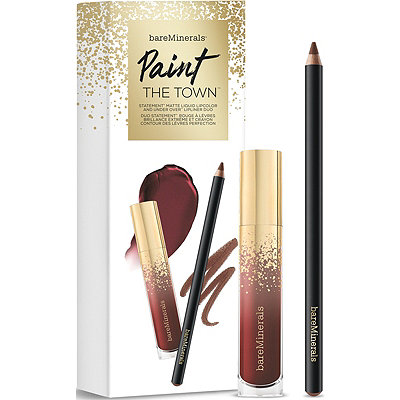 BareMineralsPaint The Town Statement Matte Liquid Lipcolor and Under Over Lip Liner Duo