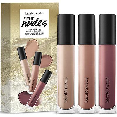 BareMineralsSend Nudes Gen Nude Matte Liquid Lipcolor Trio