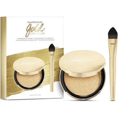 BareMineralsOnline Only Gold Obsession Chandelight Glow Illuminator Plus Brush