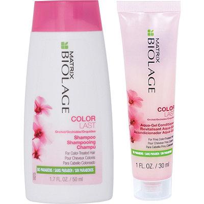 MatrixFREE Mini Colorlast Shampoo and Aqua Gel Conditioner Duo w%2Fany Matrix purchase