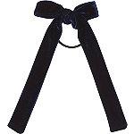 Navy Velvet Bow