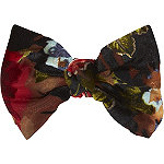 Black And Red Barrette
