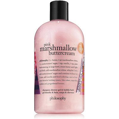 PhilosophyPink Marshmallow Buttercream Shampoo%2C Shower Gel %26 Bubble Bath