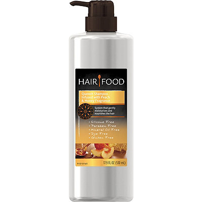 Hair Food Gluten Free Quench Shampoo Infused with Peach & Honey Fragrance