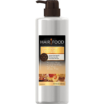 Hair Food Gluten Free Quench Conditioner Infused with Peach & Honey Fragrance