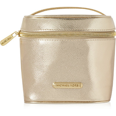 PerhapsOnline Only! FREE Golden Shimmer Cosmetic Case w/any $105 purchase from the Michael Kors Sexy Amber Fragrance Collection