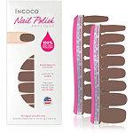 Incoco Online Only Nail Polish Appliqués - Solid Colors Caffeine Fix (café au lait brown)