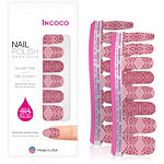 Incoco Nail Polish Appliqués - Nail Art Designs Arabesque (pink/plum damask)