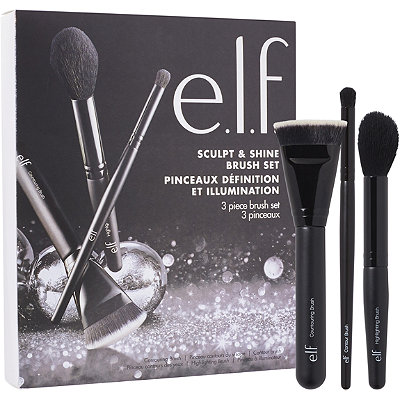 e.l.f. CosmeticsOnline Only Sculpt %26 Shine 3 Piece Brush Set