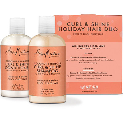 SheaMoistureOnline Only Coconut %26 Hibiscus Curl %26 Shine Holiday Hair Duo