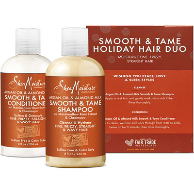 SheaMoistureOnline Only Argan Oil %26 Almond Milk Smooth %26 Tame Holiday Hair Duo