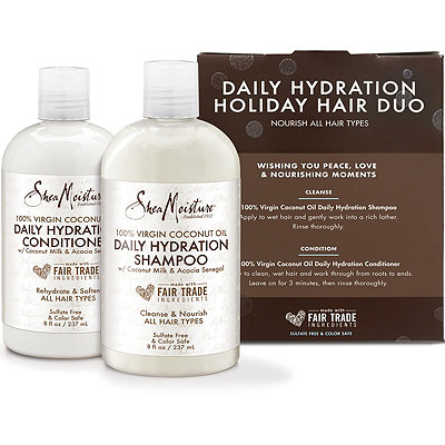SheaMoistureOnline Only 100%25 Virgin Coconut Oil Daily Hydration Holiday Hair Duo