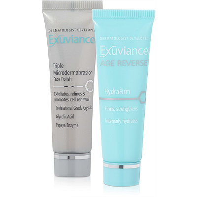 ExuvianceFREE Triple Microdermabrasion Face Polish %26 Age Reverse Hydrafirm w%2Fany Exuviance purchase