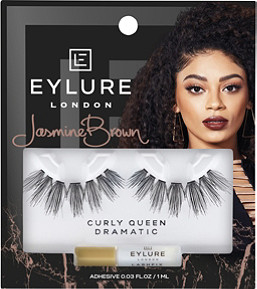 Eylure X Jasmine Brown Curly Queen Lashes  d87a26e053c5