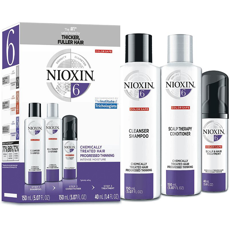 Nioxin Hair Care Kit System 6 Chemically Treated Hair With Progressed Thinning Ulta Beauty