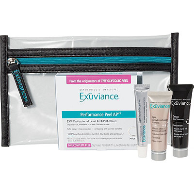 FREE Cosmetic Bag 4 Pc Deluxe Set w/any $75 Exuviance purchase