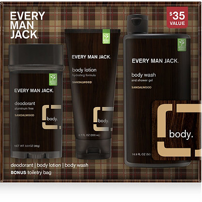 Every Man JackOnline Only Sandalwood Body Kit