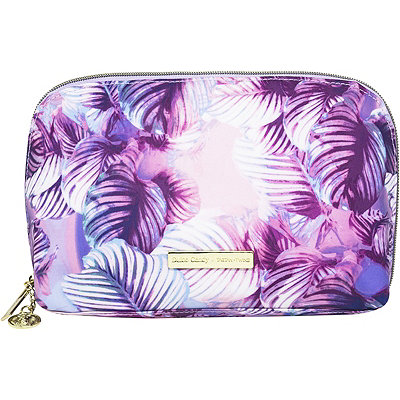 Dulce Candy x Tartan+Twine Periwinkle Leaves Travel Makeup Clutch