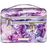 Dulce Candy x Tartan+Twine Periwinkle Leaves Double Zip Train Case