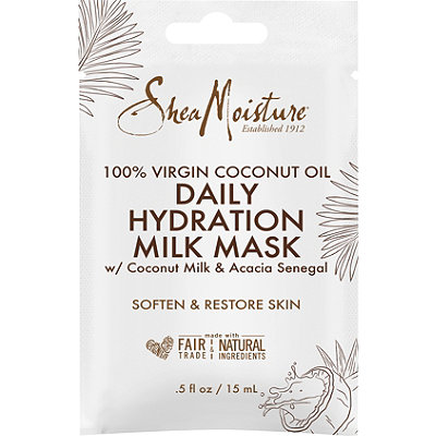 SheaMoisture 100%25 Virgin Coconut Oil Daily Hydration Face Milk Mask Packette