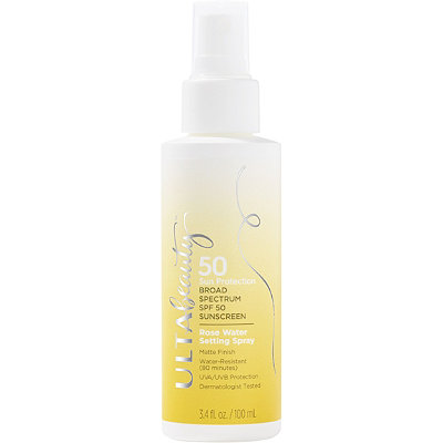 ULTASPF 50 Sunscreen Rose Water Setting Spray