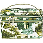 Leaves and Cork Double Zip Train Case Leaf Print
