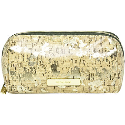 Leaves and Cork Travel Makeup Pencil Case Cork Print