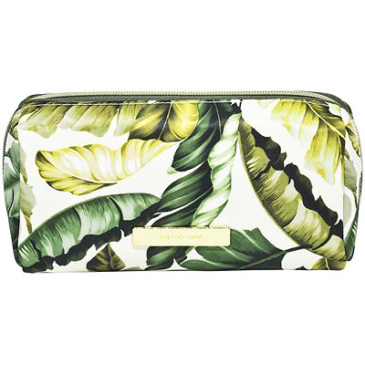 Leaves and Cork Travel Makeup Pencil Case Leaf Print