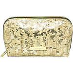 Leaves and Cork Travel Makeup Clutch Cork Print