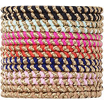 Scünci Assorted No-Damage Rope Elastics 14 pk