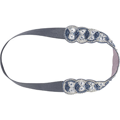 Silver Beaded Headwrap